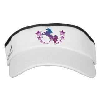 Unicorn with stars visor