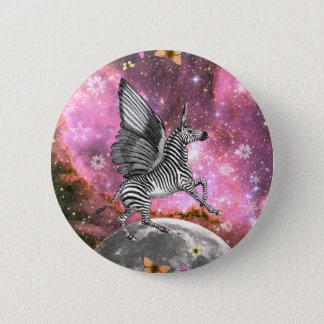 Unicorn Zebra Pegasus 6 Cm Round Badge