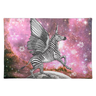 Unicorn Zebra Pegasus Placemat
