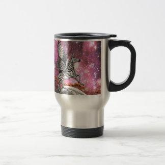 Unicorn Zebra Pegasus Travel Mug