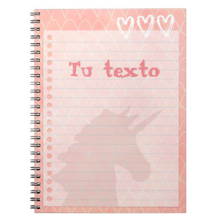 Unicornio 3 spiral notebook