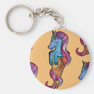unicornio ice cream key ring