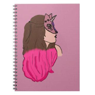 Unicórnio woman notebook