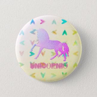 Unicornios obsession 6 cm round badge