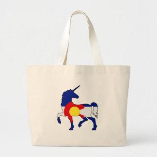 Unicorns and Colorado! Large Tote Bag