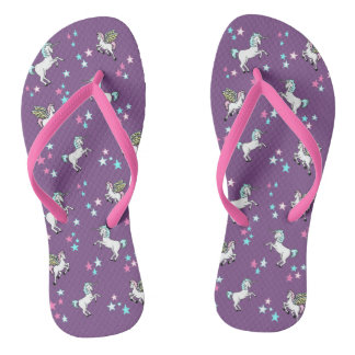 Unicorns and Pegasus with Stars Thongs