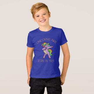 Unicorns are Born in 1931 Cute Dabbing Dance Pose T-Shirt