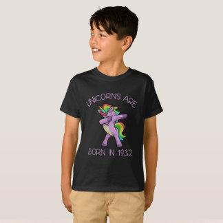 Unicorns are Born in 1932 Cute Dabbing Dance Pose T-Shirt