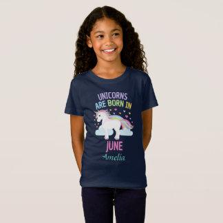 Unicorns are Born In June Personalized T-Shirt
