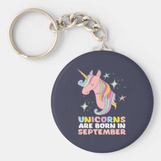 Unicorns Are Born In September Cute Birthday Girl Key Ring