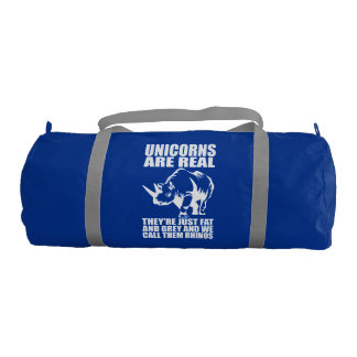 Unicorns Are Real - They're Rhinos - Funny Novelty Gym Bag