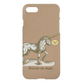 "Unicorns Are Stupid™—""Horns rule, dude!"" iPhone 7 Case"