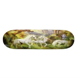 Unicorns In Field Skateboard