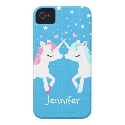 Unicorns in love Blackberry Bold case