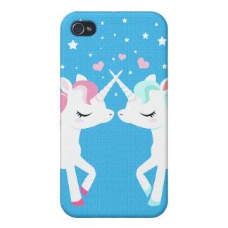 Unicorns in love Iphone case customisable iPhone 4 Cases