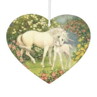 Unicorns In Meadow Car Air Freshener