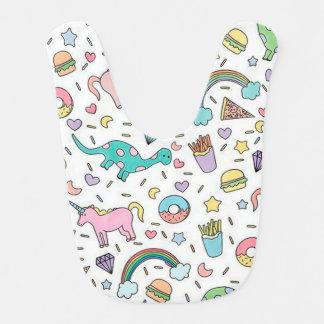 Unicorns, Love, Food and Rainbows Bib