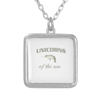 Unicorns of the Sea Silver Plated Necklace