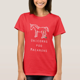 Unicorns Poo Macarons women's t-shirt