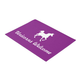 Unicorns Welcome Doormat