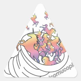 Unicornucopia Triangle Sticker