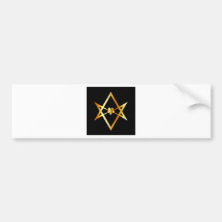 Unicursal hexagram symbol bumper sticker