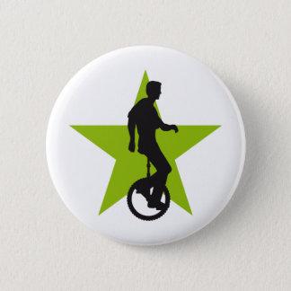 unicycle 6 cm round badge