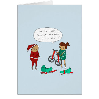 Unicycle Christmas | Funny Cycling Christmas Card