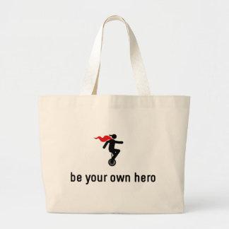 Unicycle Hero Jumbo Tote Bag