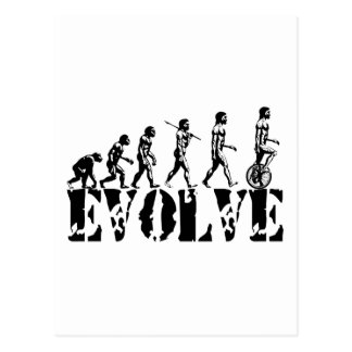 Unicycle Unicycling Sport Evolution Art Postcard