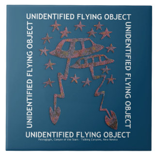 Unidentified Flying Object Large Square Tile