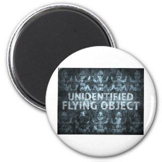 Unidentified Flying Object Fridge Magnet
