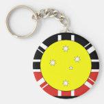 Unification flag of Australia Basic Round Button Key Ring