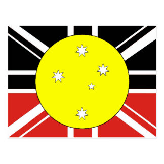 Unification flag of Australia Postcard