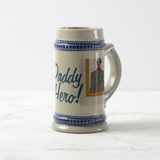 Uniform Officer Sordier, Grey, - Photo with YOUR - Beer Stein
