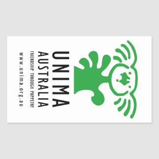 UNIMA Australia sticker WHITE (Sheet of 4)
