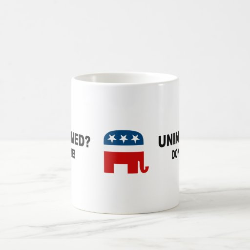 Uninformed - Don't vote Mug