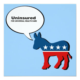 Uninsured for Universal Health Care Announcement