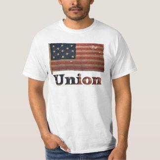 Union Army Civil War Distressed Antique Flag T-Shirt