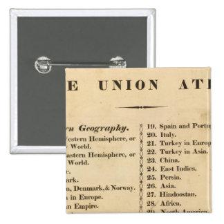Union atlas 15 cm square badge