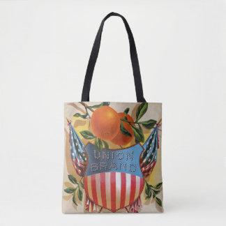 Union Brand Orange Crate Label Tote Bag
