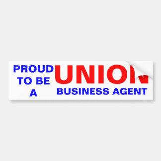 UNION BUSINESS AGENT BUMPER STICKER