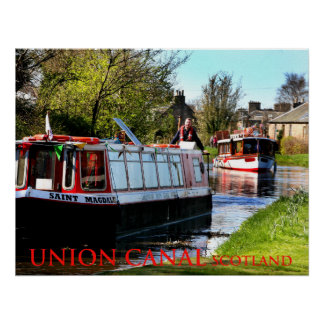 union canal scotland poster