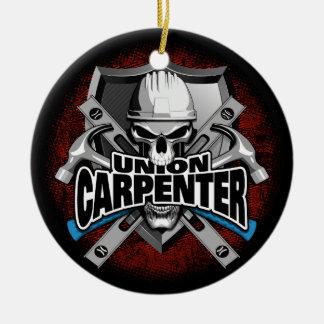 Union Carpenter Skull Ceramic Ornament