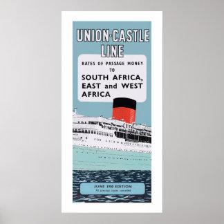 Union Castle Line Illustration Poster