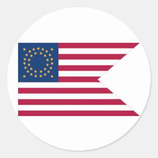 Union Cavalry Guidon Round Sticker
