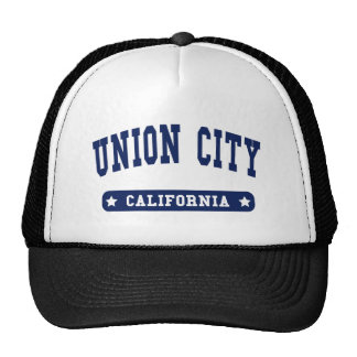 Union City California College Style tee shirts Mesh Hats
