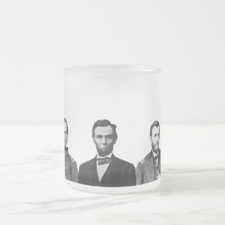 Union Civil War Heroes Frosted Glass Mug