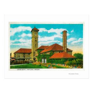 Union Depot Railroad Station in Portland, Postcard