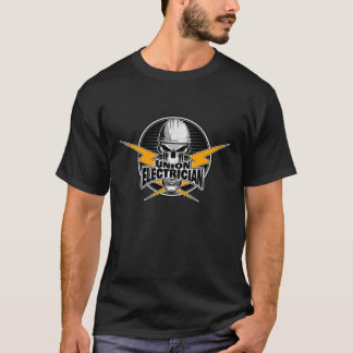 Union Electrician: Skull and Thunderbolts T-Shirt